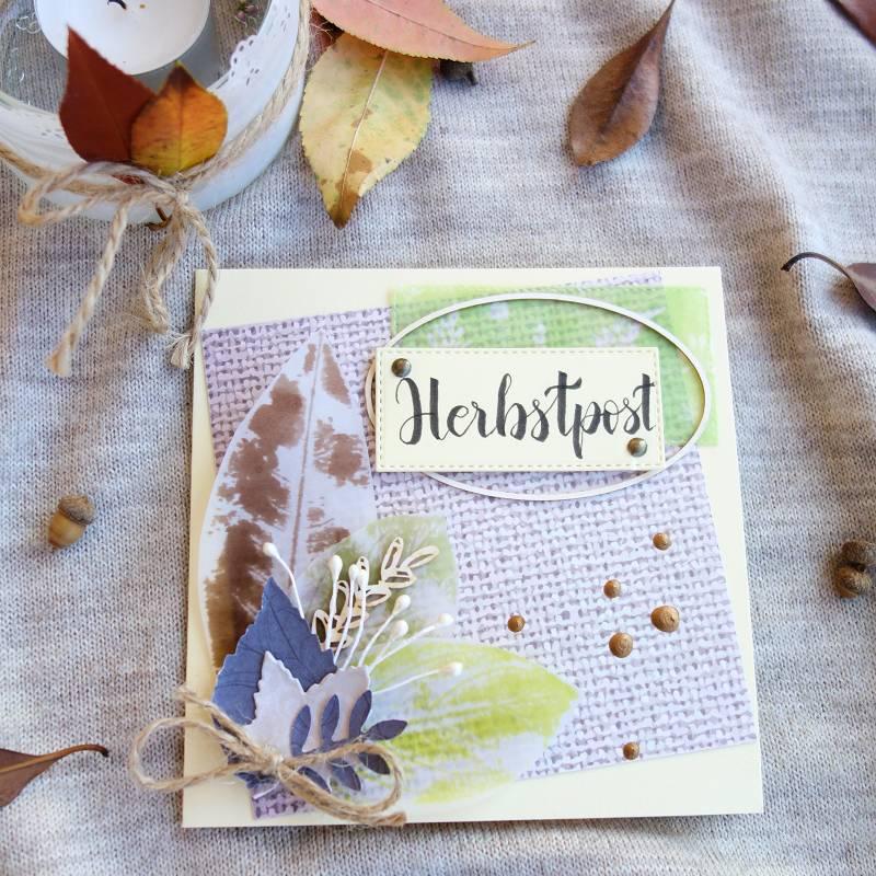 Geburtstagskarte Basteln Frau.Herbstpost Karte Selber Basteln Und Giveaway Perlenkuchen