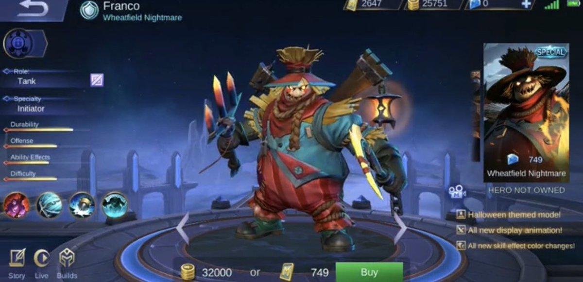 Mobile Legends Bang Bang Franco Skin Hileli Apk Kostum Hileli Apk