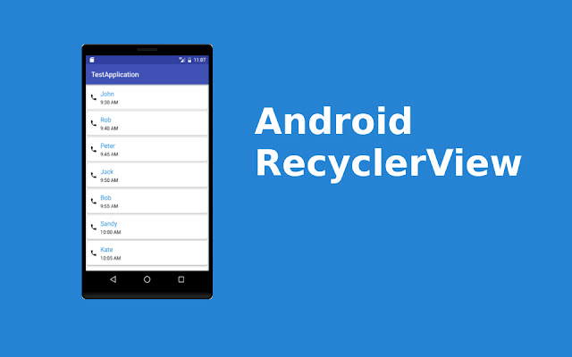 Android Recycleview with Cardview Example (List of Data in Android)