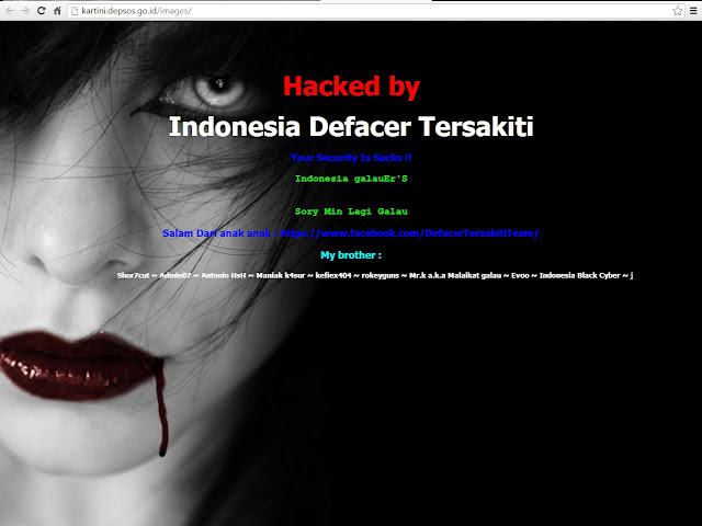 Galau Melanda,Website Resmi Kartini Depsos Jadi Pelampiasannya