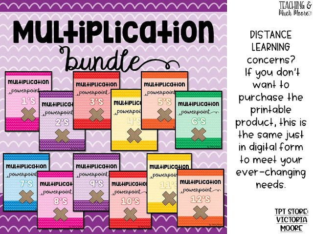 distant learning multiplication