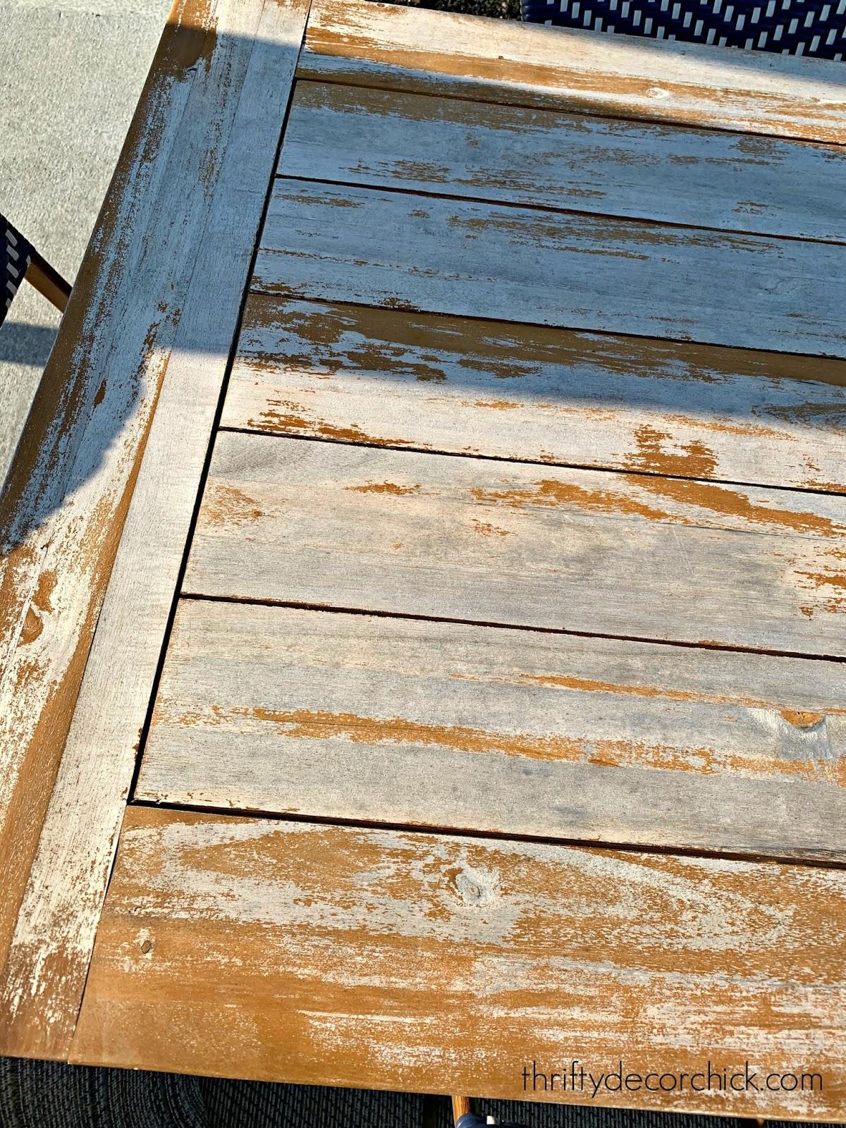 saving a damaged wood table
