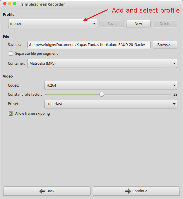 Way to Record Screen Linux Mint With SimpleScreenRecorder