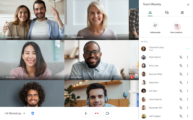 Adding present and chat Meet moderator capabilities for Google Workspace Edu users 2