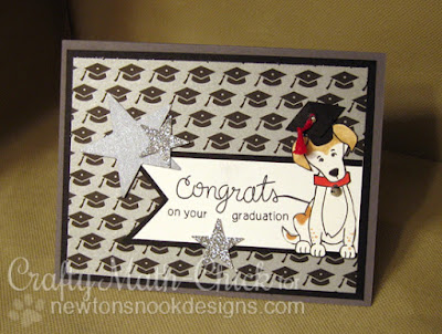Doggie Graduation Card by Crafty Math Chick | Fetching Friendship & Simply Sentimental by Newton's Nook Designs