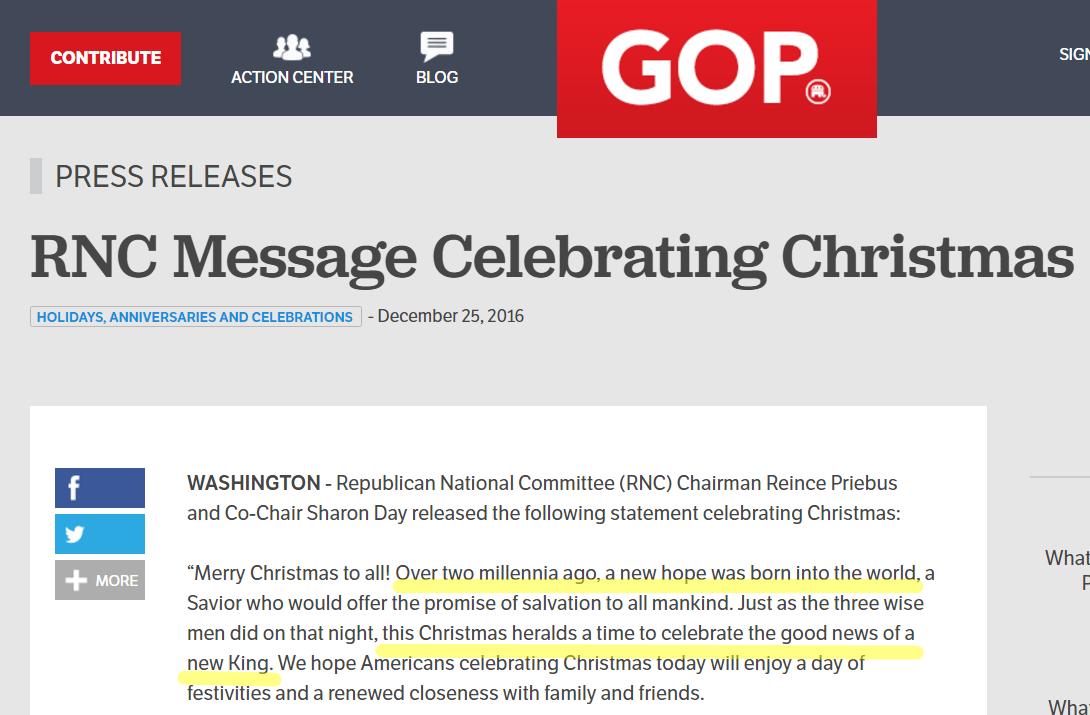 Gop Christmas Message.Democurmudgeon New King Trump S Raised Fist Christmas