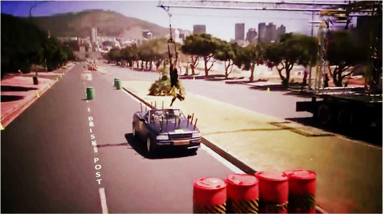 Khatron Ke Khiladi Car stunt with slow ride, hurdles, and flag collection