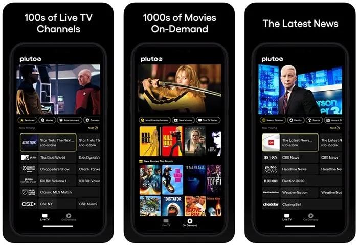 تطبيقات الأفلام المجانية Iphone Pluto Tv