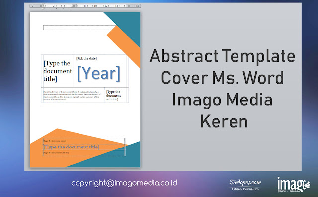 Abstract Template Cover Ms. Word Imago Media Keren