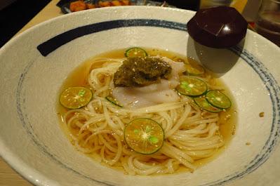 Inaniwa Yosuke, scallop kabosu udon