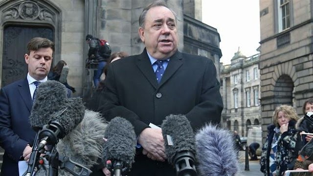 Scottish nationalist leader Alex Salmond awarded large sum of money after winning court case