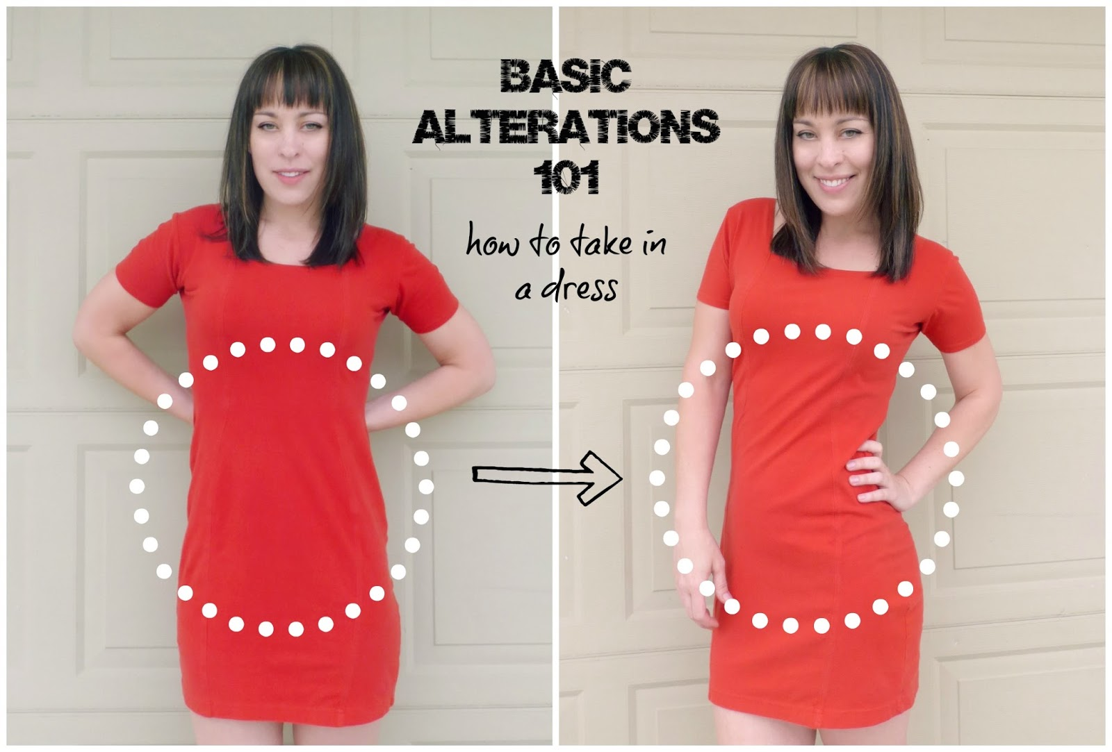 how to alter a dress by taking it in on the sides