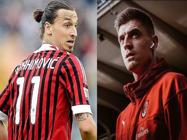 Zlatan Ibrahimovic dan krystof piatek - IG