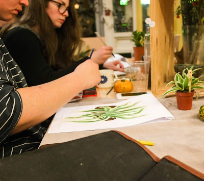 Botanical Illustration Class at Moonko Sheffield