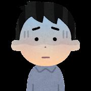 顔色が悪い人のイラスト(男性)