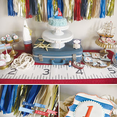 A Red, White and Blue Nautical 1st Birthday Party