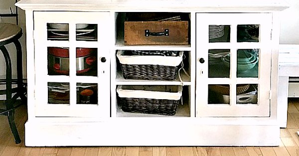 How to Add Farmhouse Details to a Hutch