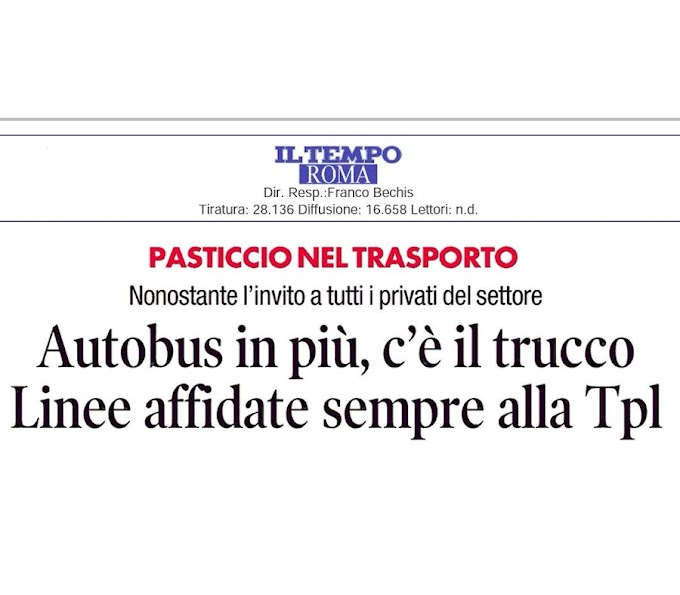 Situazione del trasporto pubblico di Roma di giovedì 21 maggio