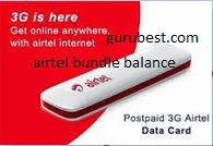 airtel internet bundle mb balance