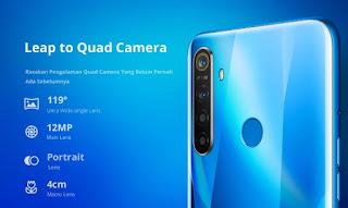Spesifikasi dan Harga Realme 5, dengan 4 buah kamera