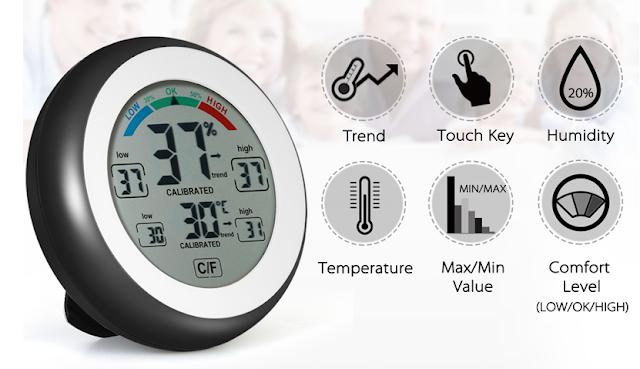Digital Hygrometer Temperature Humidity Meter