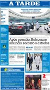 As manchetes dos jornais e destaques dos sites nesta terça-feira, 24 de Março 2020