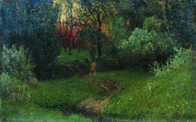 Исаак Ильич Левитан - Дорога в лесу. Конец 1870 - начало 1880-х