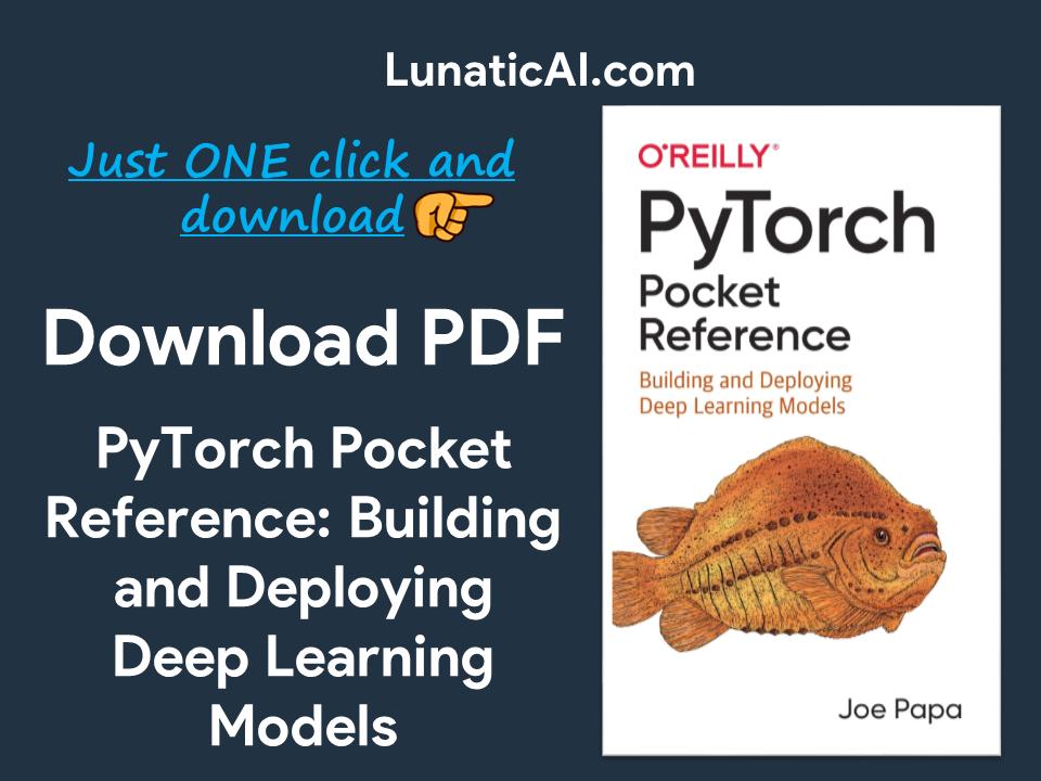 PyTorch Pocket Reference PDF