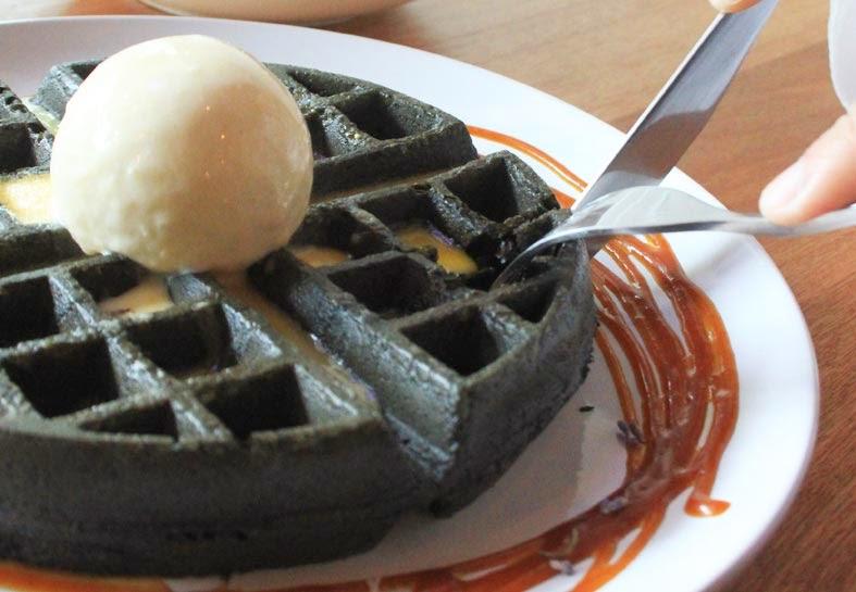 Fatcat Ice-Cream Bar premium waffles butterbeer salted caramel lavender and salted egg yolk sauce