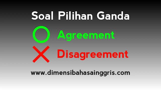 DBI - Soal PG dan Jawaban Agreement and Disagreement