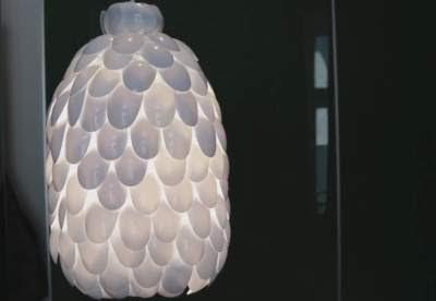 Cara membuat lampu hias dari sendok plastik
