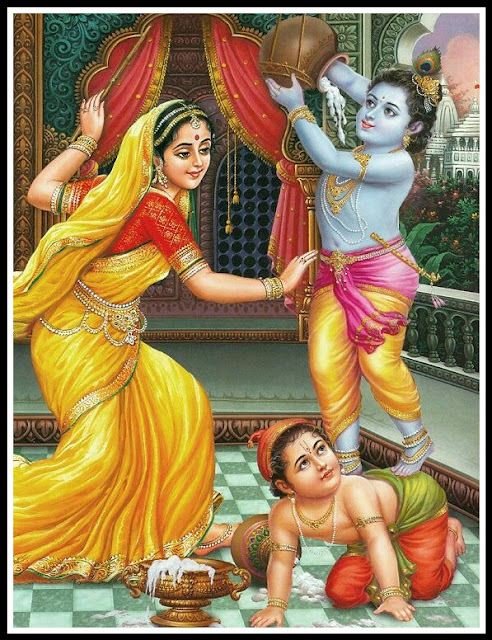 krishna yashoda images