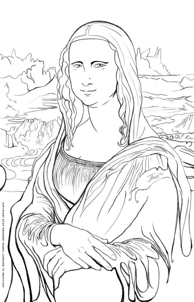 art coloring pages renaissance - photo#6