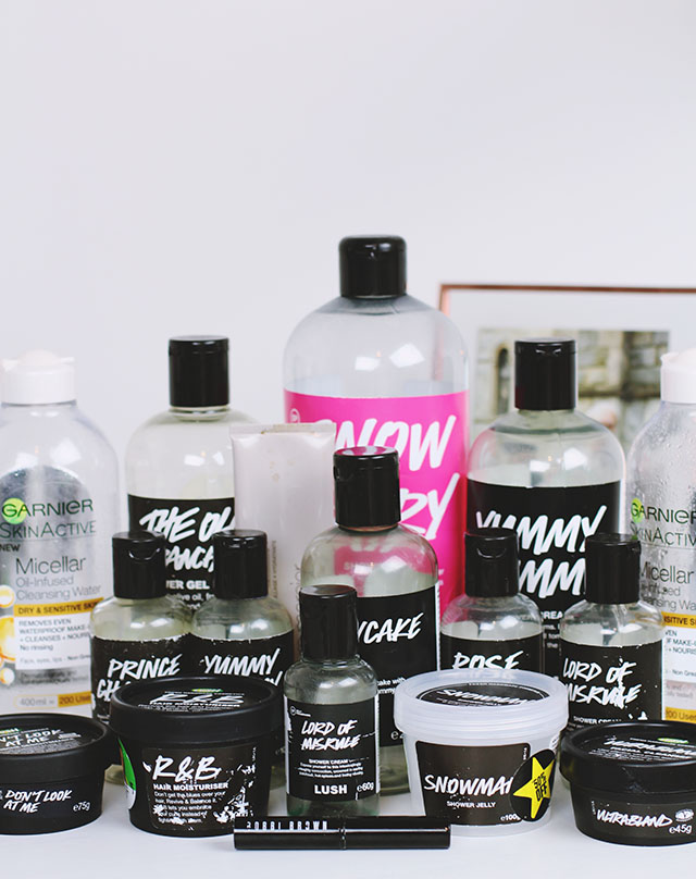 Lush beauty empties