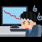 株のイラスト「悲しむトレーダー」