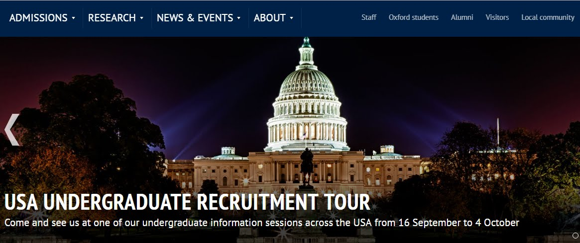 University of Oxford's USA Undergraduate Recruitment Tour 2019