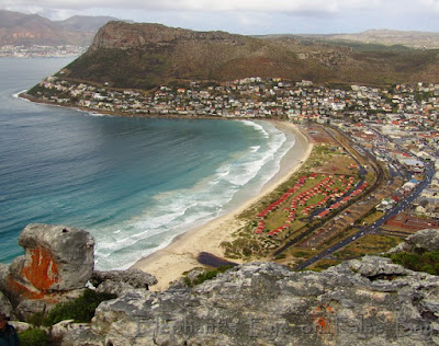 Trappieskop to Fish Hoek beach and Silvermine River mouth to Elsie's Peak