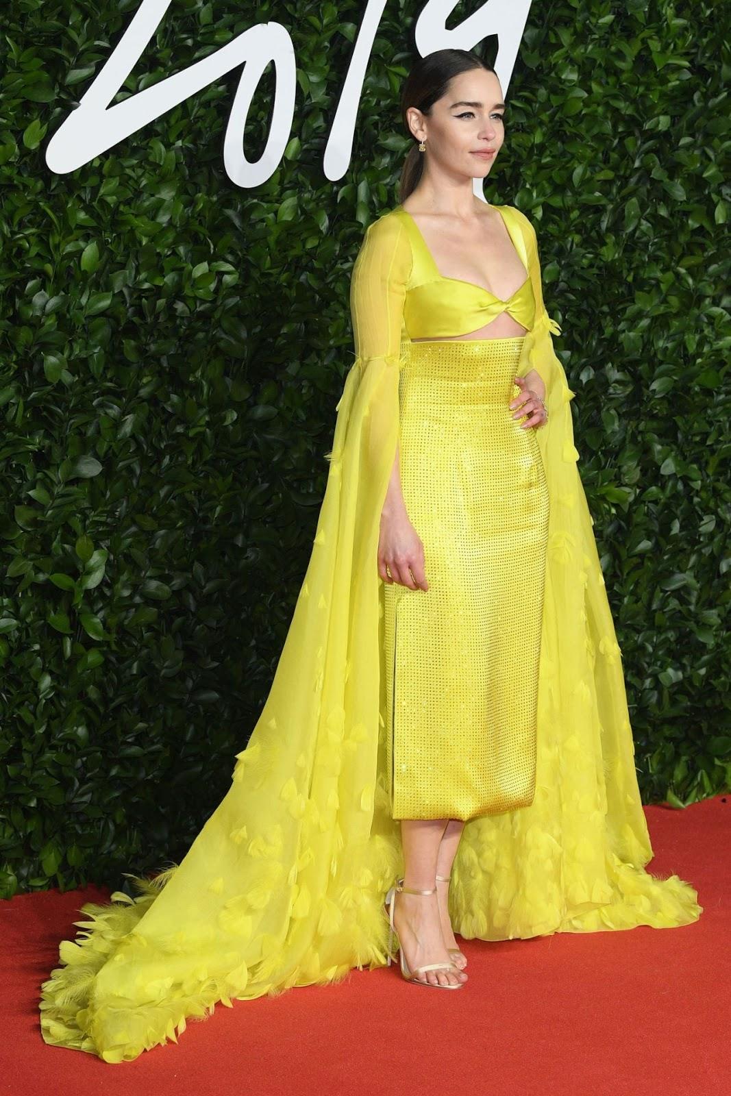 Emilia Clarke – Fashion Awards 2019 Red Carpet at Royal Albert Hall in London