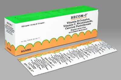 Becom C - Manfaat, Dosis, Efek Samping dan Harga