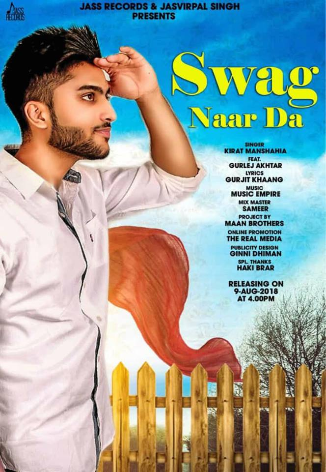 Swag Naar Da   Kirat Manshahia   new song