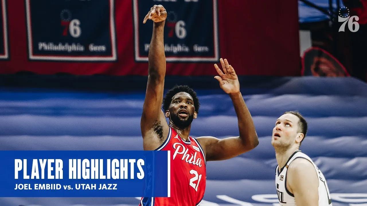 Joel Embiid 40pts 19reb vs UTA   March 3, 2021   2020-21 NBA Season