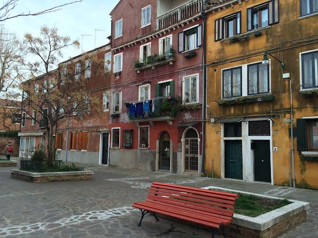 Piazza in Murano Venice Italy