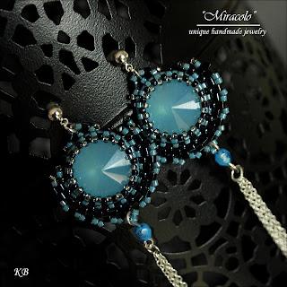 kolczyki z rivoli, rivoli earrings