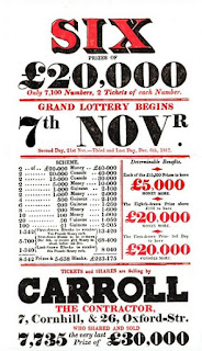Advertisement for a lottery  from Ackermann's Repository (Nov 1817)