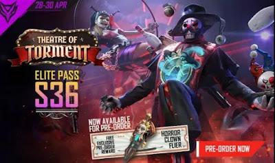 Free Fire Elite Pass Season 36 Redeem Code For Free