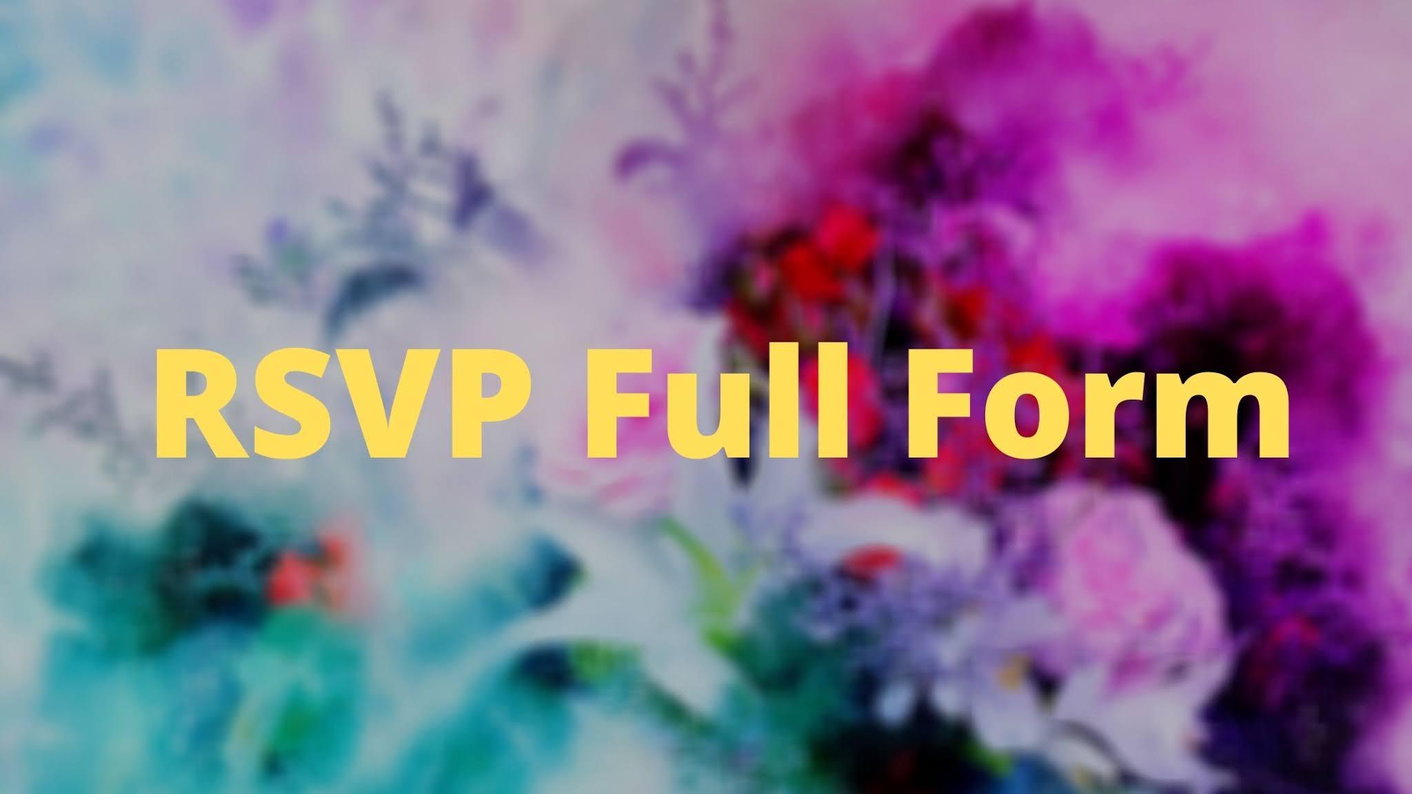 RSVP Full Form