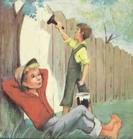Tom Sawyer Painting Fence