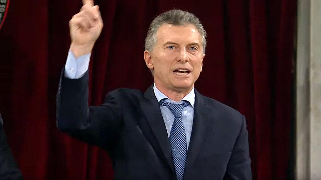 """El presidente Macri anunció la firma de un DNU para """"avanzar con la extinción de dominio"""""""
