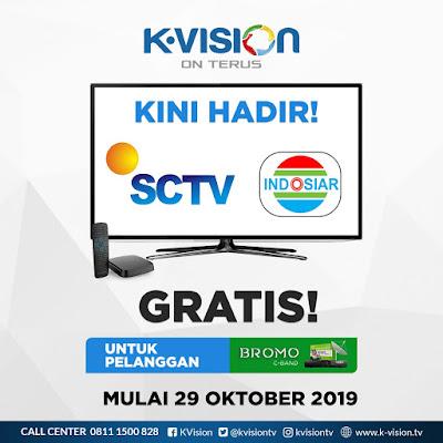muali 29 Oktober 2019 sctv indosiar hadir di k vision bromo c band