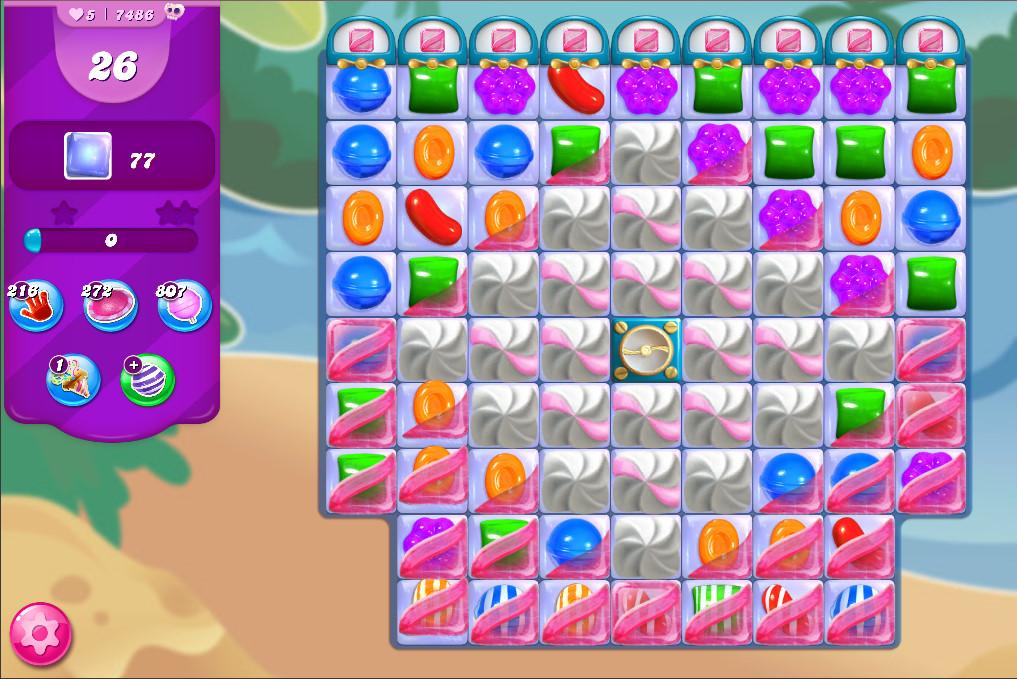 Candy Crush Saga level 7486